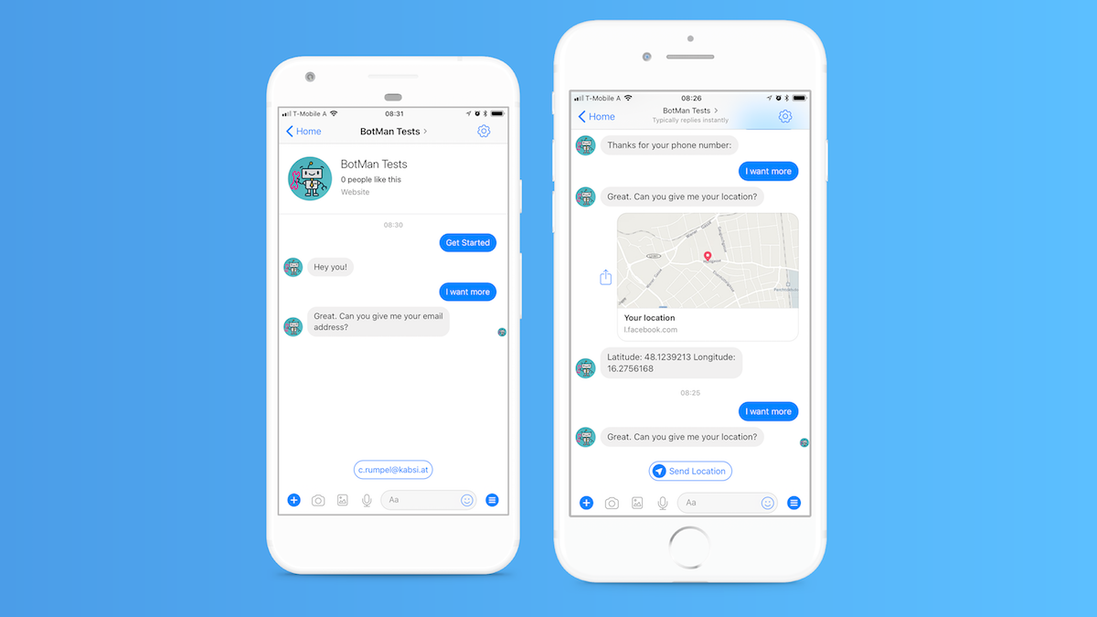 How to get email address from facebook messenger