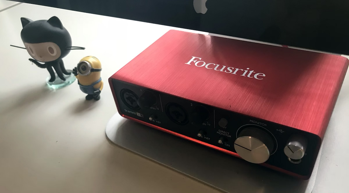 Photo of the Focusrite audio interface